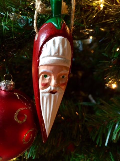 Chili Pepper Santa Claus ornament