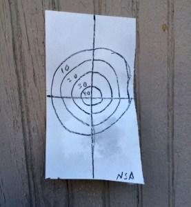 squirt gun target