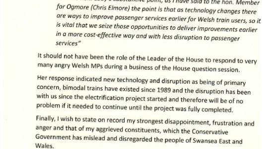 Letter to Chris Grayling