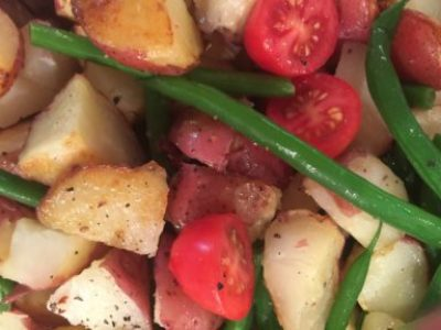 Roasted Potato, Tomato and Green Bean Salad