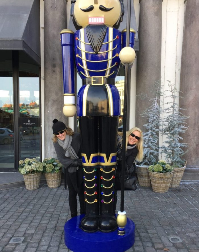 Nutcrackers outside Hotel D'Angleterre Photo by Kate Stoupas
