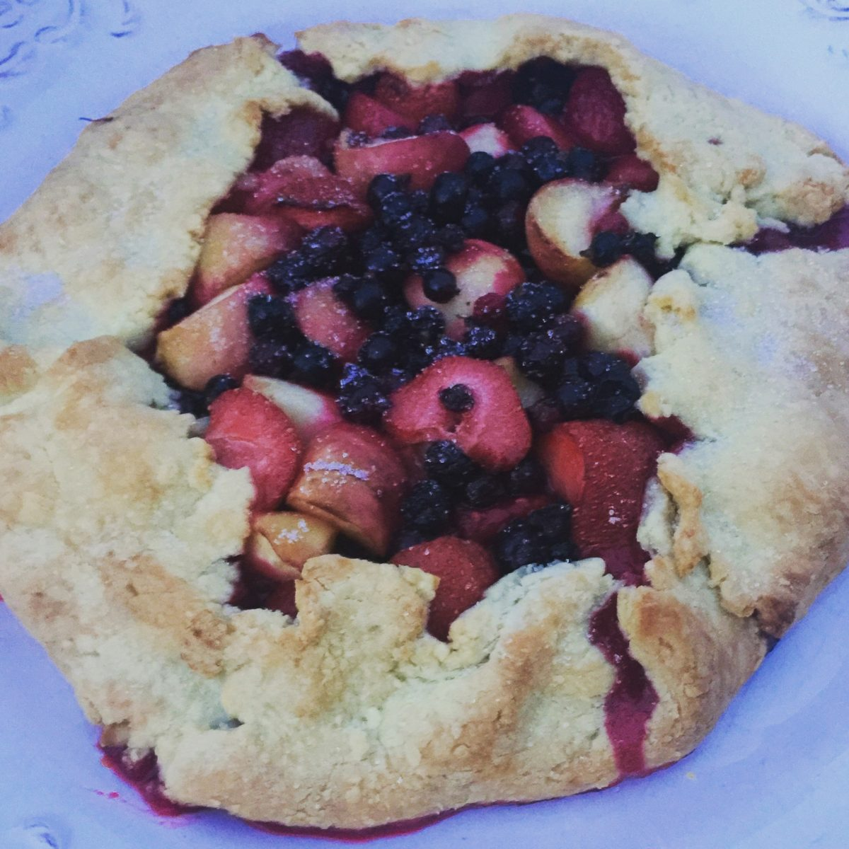 Peach and Summer Berry Crostata