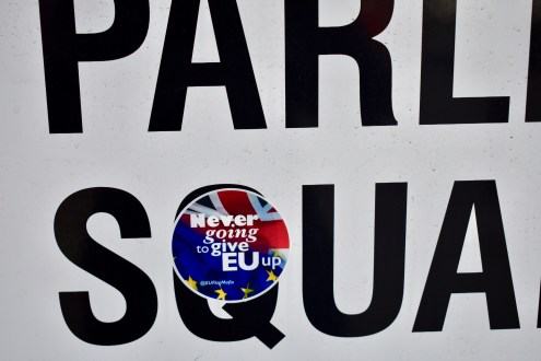 Brexit Demonstration Sticker..Never going to give EU up!