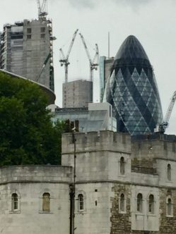 Tower of London with the Gerkin