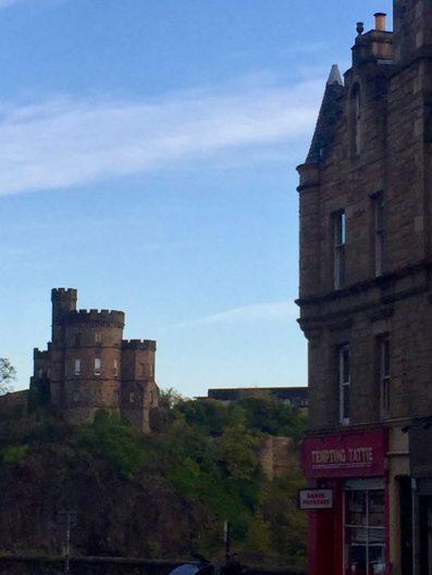 Edinburgh Castle in the distance