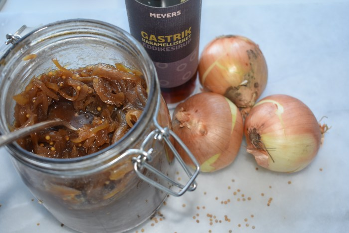 Jar of caramelized onion chutney