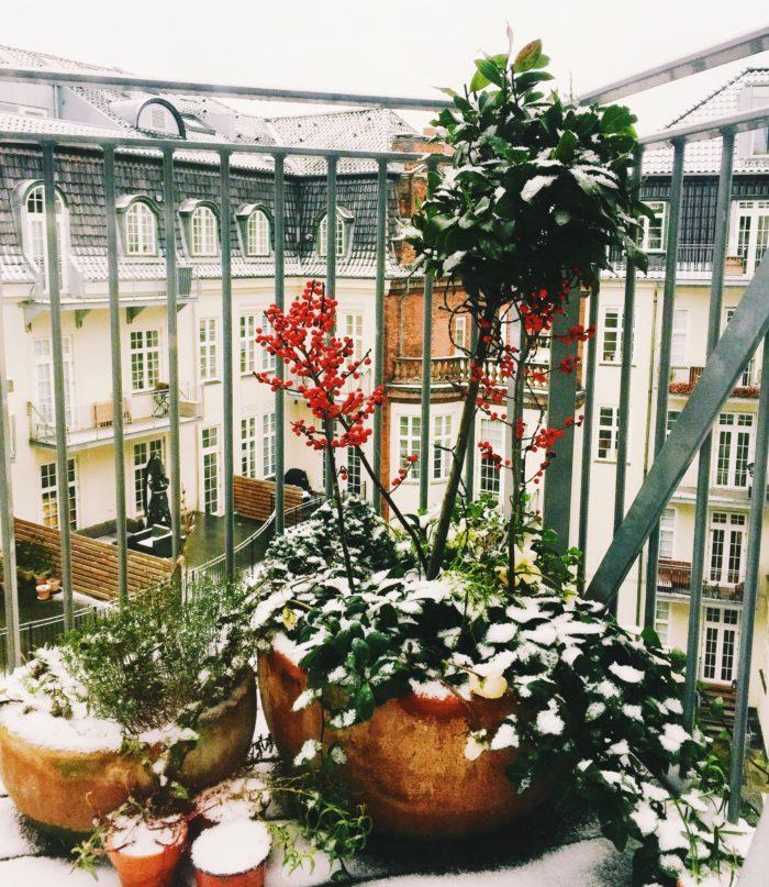our balcony in Copenhagen