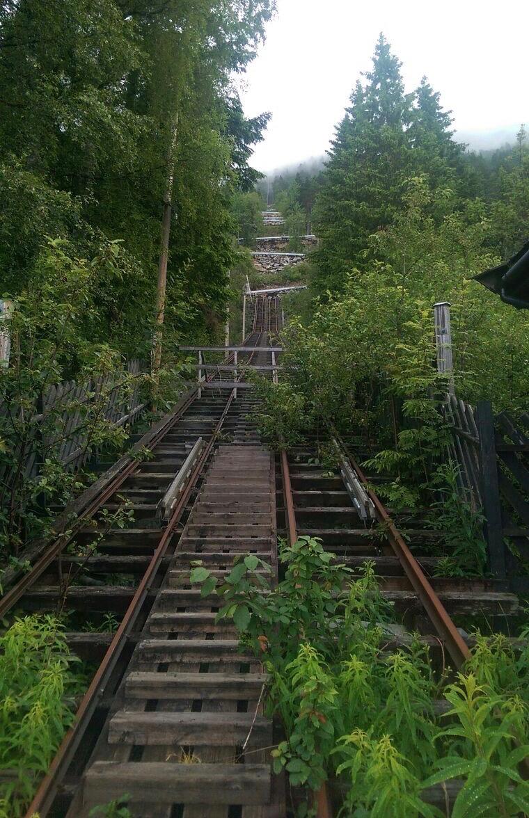 Old Funicular at Troll Tunga