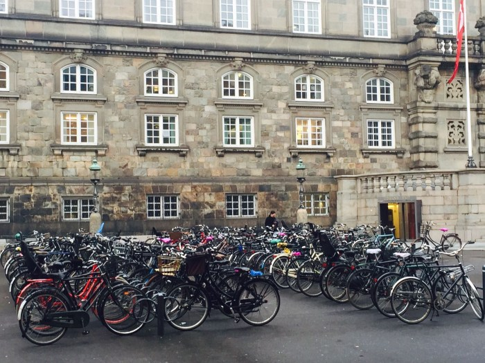 Bikes outside Parliament