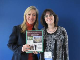Carolyn and Kathy Hart presenting songs for kids at the New Jersey Music Teachers Conference