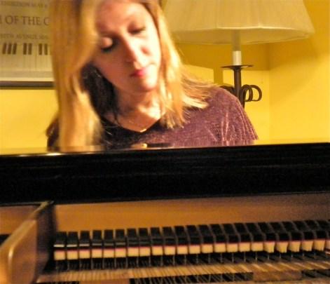 Carolyn at the piano