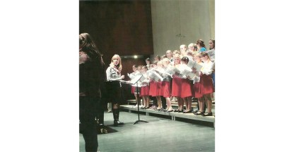 Conducting Moscow's children's choir. Ship of Tolerance Concert, Moscow