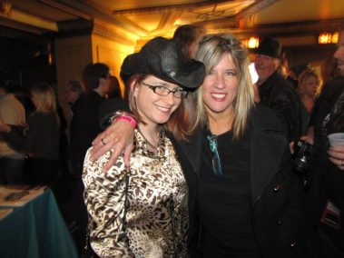 Stacy with Carolyn at the Detroit Music Awards