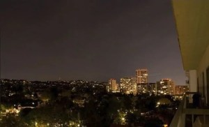 Wilshire Corridor North view at night