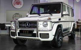 Mercedes-Benz G 63 AMG V8 Biturbo White  2017  59,000KM  – AED 475,000