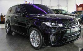 Range Rover Sport SVR 2015 Black  41,000KM – AED 380,000