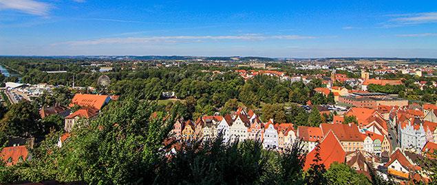 Landshut Panorama mit Altstadt