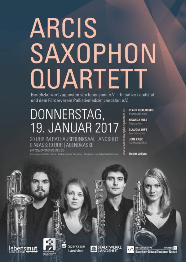 arcis saxophonquartett im rathausprunksaal landshut