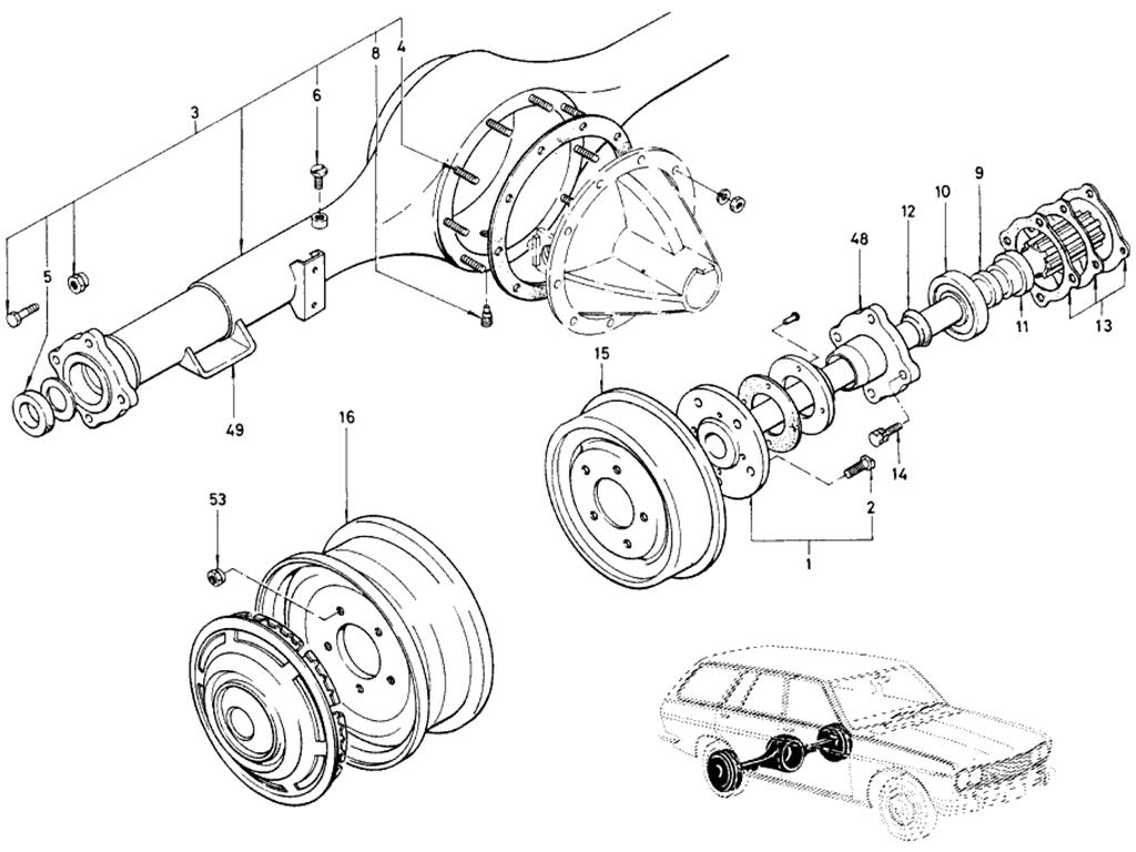 Datsun 510 Rear Axle Amp Suspension Rigid Axle Sedan Amp Wagon