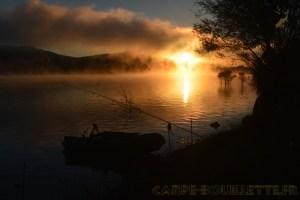 Lever du jour au lac de Montbel.
