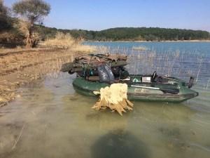 Lac de Montbel, fin de session carpe.