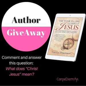 Special giveaway of digital copy of the Four Gospels of Jesus on CarpeDiem.fyi