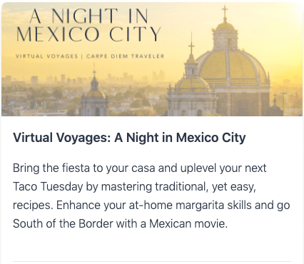 Virtual Voyages: A Night in Mexico City