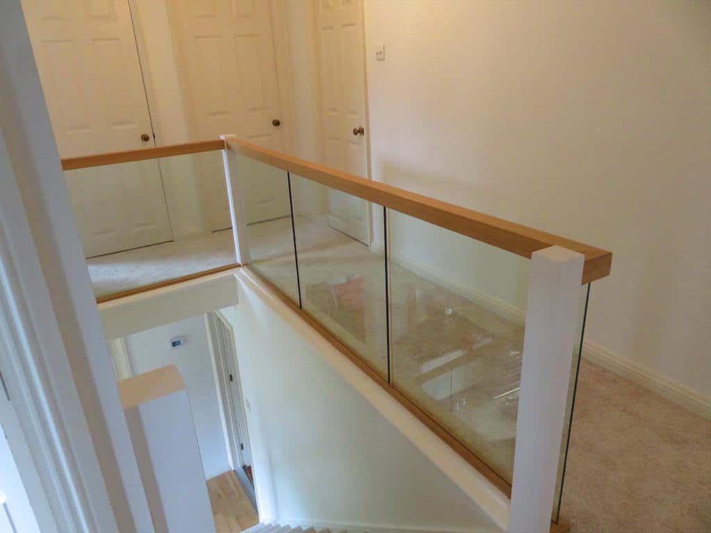 Bespoke Wood and Glass Stair Install Norfolk