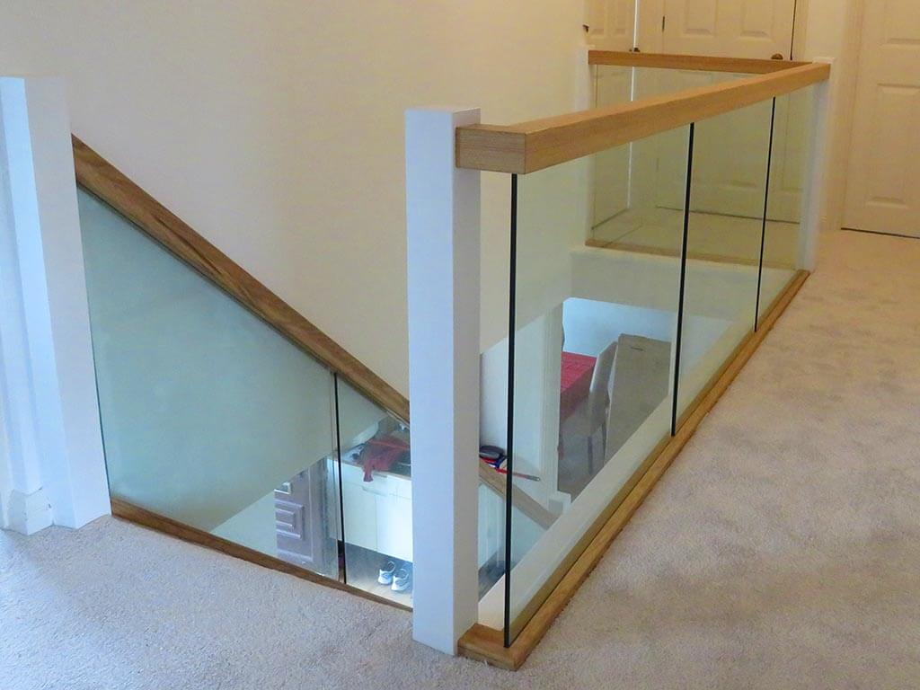 Bespoke Wood and Glass Stair Install Norwich