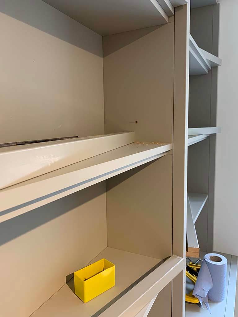 Bookcase Shelf Closeup