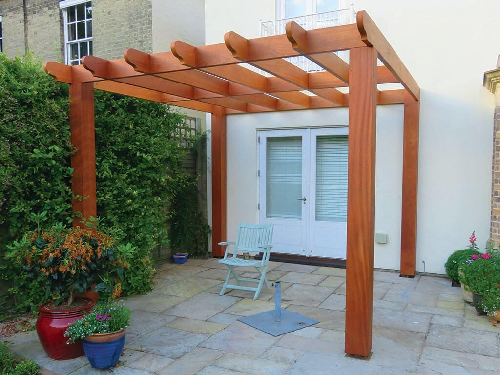 Garden Sapele Pergola Carpentry
