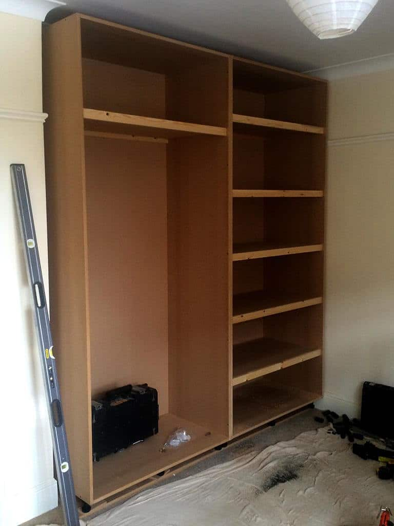 MDF wardrobe internals Build and installed