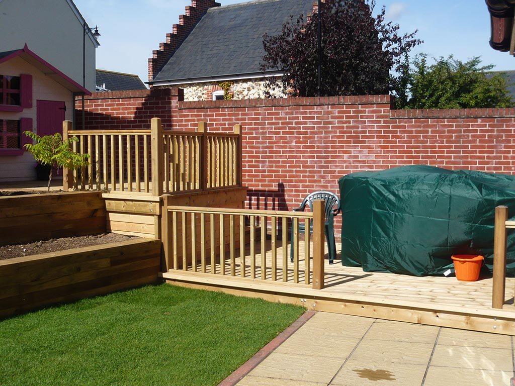 Norwich Carpenter Garden Decked Area