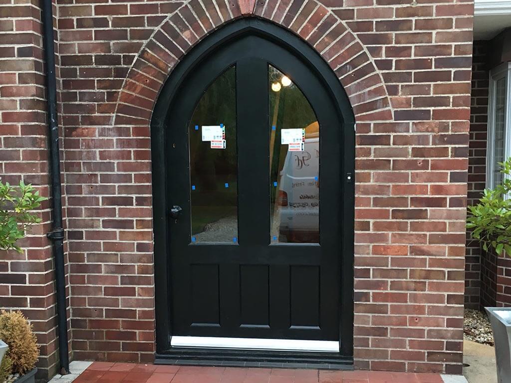 Norwich Carpenter Pointed arch Wooden Door