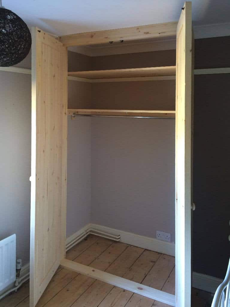 Solid pine wardrobe internals Carpenter