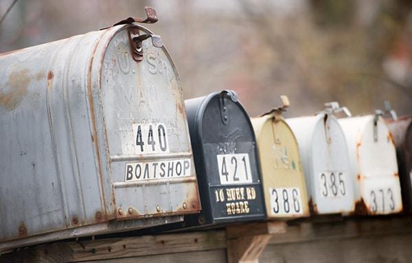 the battered boat shop mailbox