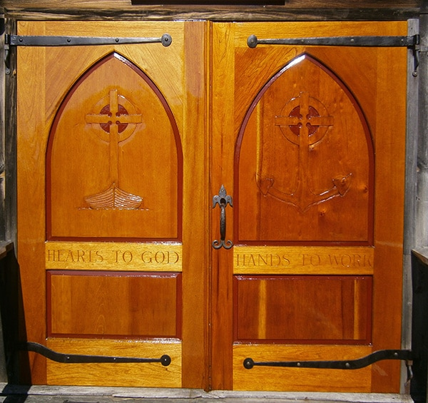 Barn-Chapel doors