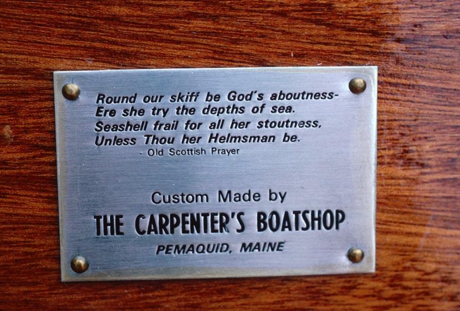 poem engraved on boatshop plaque