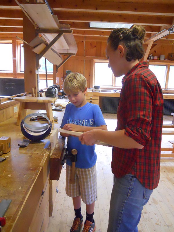 youth woodworking class