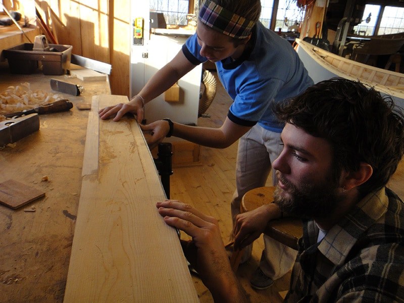 two apprentices in the workshop