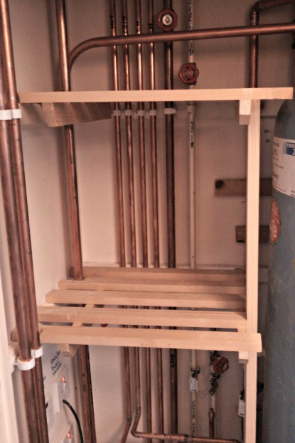 Building Closet Wood Shelves