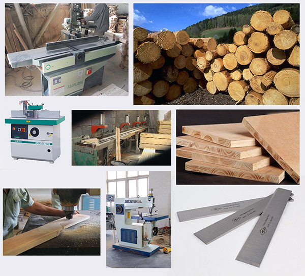 Applicable machine and material for planer blade