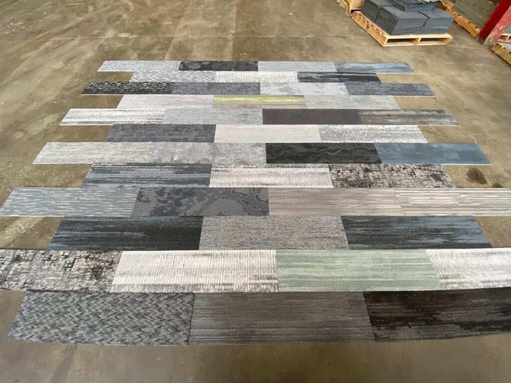 milliken gray mix designer plank tiles biscuit s bargains