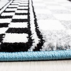tapis de chambre d enfants avec des motifs de voitures de course de formule 1