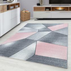 tapis de salon design moderne rose