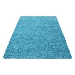 tapis poil long a poils longs dream shaggy tapis uni couleur poil hauteur 5cm turquoise