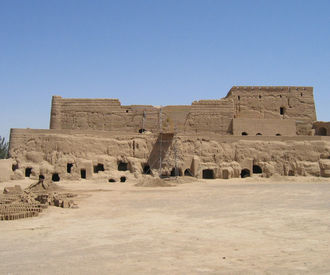 The old 'City of clay' at Meybod, near Yazd.