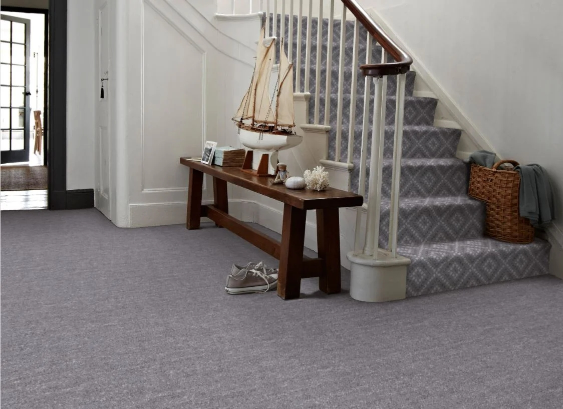 6 Of The Best Coloured Hallway Carpets Carpetright   Patterned Carpet For Stairs And Landing   Carpeting   Middle Open Concept   Diamond Uk Pattern   Striped Stair Carpet Entrance   Victorian Style