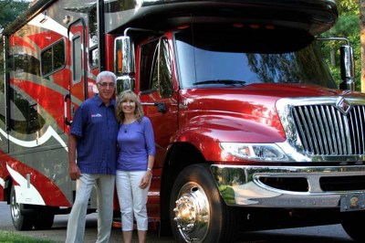 Ron and Sandy Dunn with RV