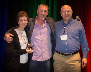 Don and Laurie Cantor, co-owners of Lake Interiors Paint & Flooring in Chelan, WA, win the Star of the Summit Award